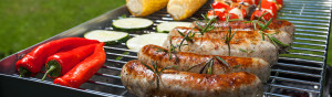Summer barbecue in the garden with yummy food