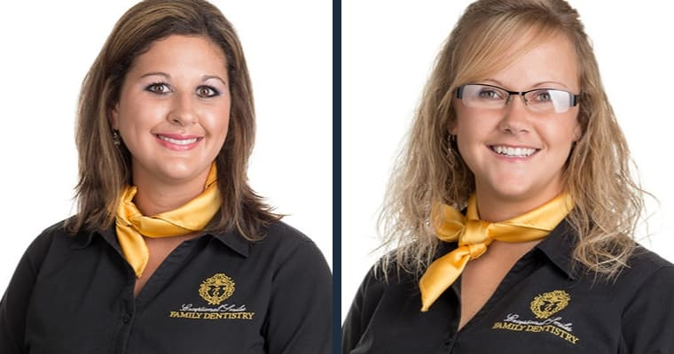 Our dental team - Jenny and Whitney - ready to care for your smile